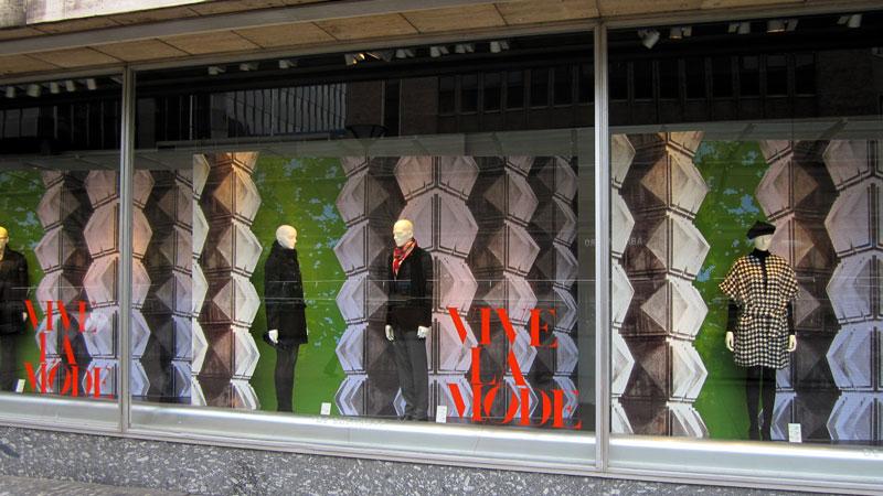 Etalage Vive la Mode de Bijenkorf Rotterdam