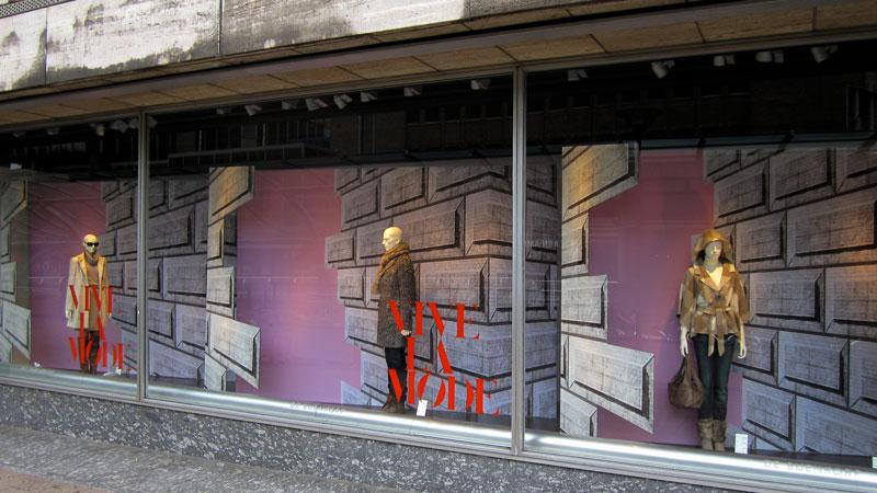 Etalage dames Vive la Mode de Bijenkorf Rotterdam