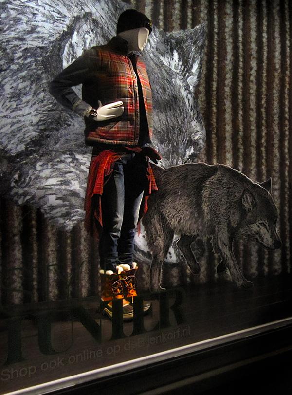 Style Hunter de Bijenkorf, ontwerp etalage.
