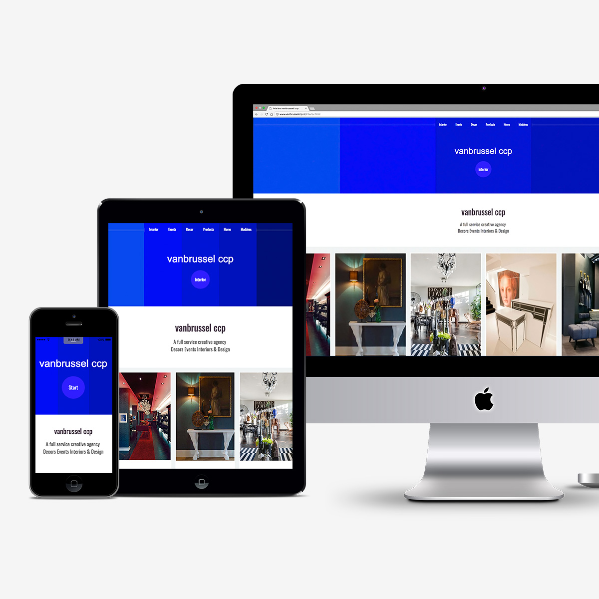 Website vanbrussel creative concepts & projects