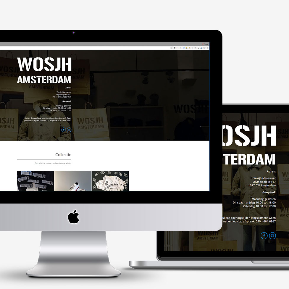 Website Wosjh Menswear Amsterdam