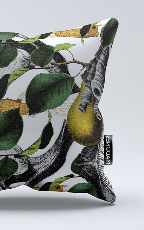 Print Fish   Kussen 60x60 cm
